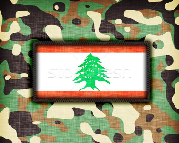 álca egyenruha Libanon zászló textúra absztrakt Stock fotó © michaklootwijk