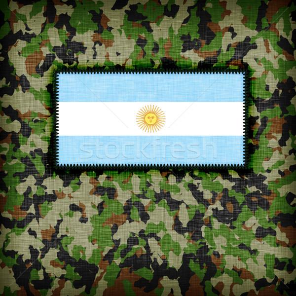 Uniforme Argentina bandeira textura verde Foto stock © michaklootwijk