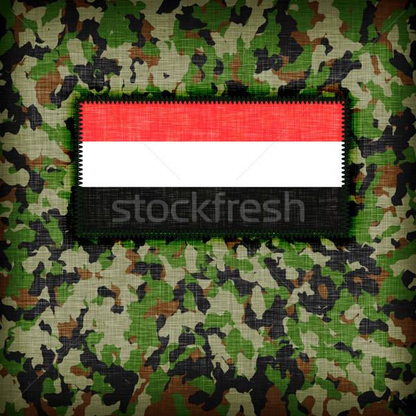 Camouflage uniform Jemen vlag textuur abstract Stockfoto © michaklootwijk
