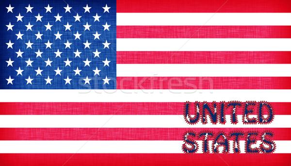 Briefe Usa : Flagge · usa briefe blau geschichte textil stock