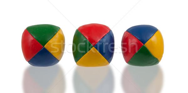 Three juggle balls isolated Stock photo © michaklootwijk