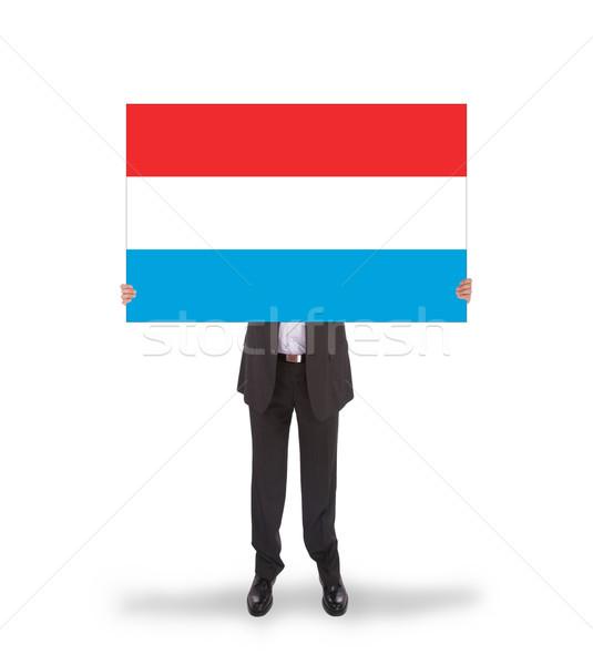 Zakenman groot kaart vlag Luxemburg Stockfoto © michaklootwijk
