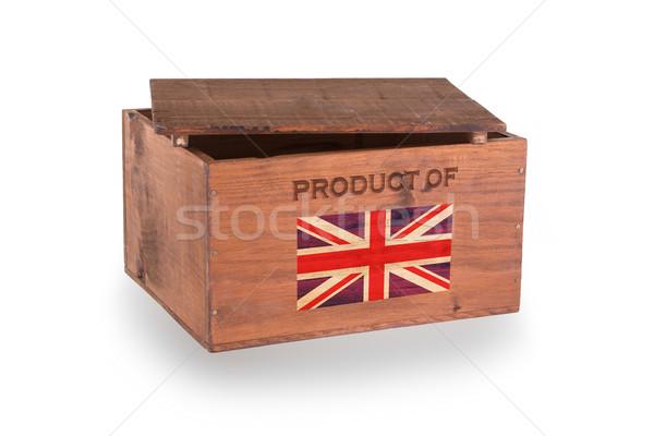 Houten geïsoleerd witte product Verenigd Koninkrijk Stockfoto © michaklootwijk