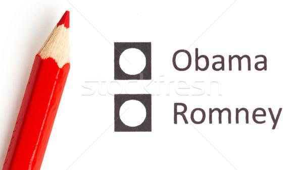 Piros ceruza választ következő elnök választás Stock fotó © michaklootwijk