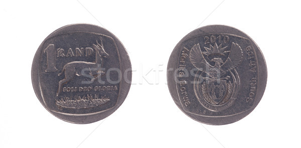 South Africa One Rand Coin Stock photo © michaklootwijk