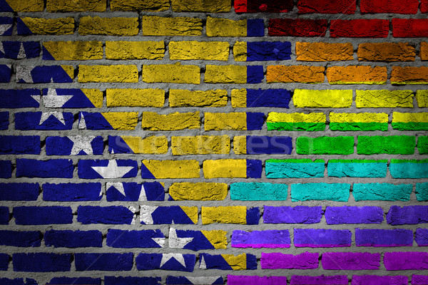 Dark brick wall - LGBT rights - Bosnia and Herzegovina Stock photo © michaklootwijk
