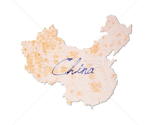 China papel velho letra azul nosso educação Foto stock © michaklootwijk