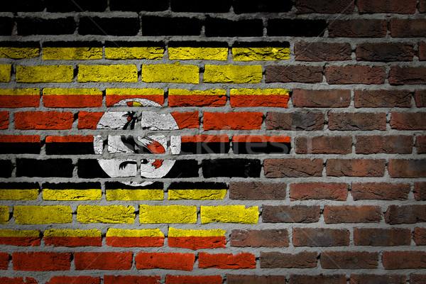 Dark brick wall - Uganda Stock photo © michaklootwijk