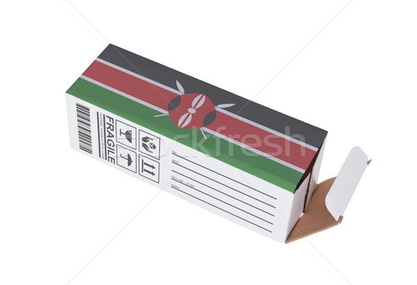 エクスポート 製品 ケニア 紙 ボックス ストックフォト © michaklootwijk