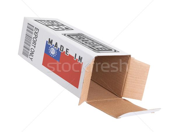 Exporter produit Myanmar papier boîte Photo stock © michaklootwijk