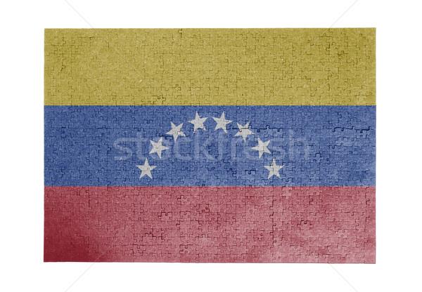 Nagy kirakós játék 1000 darabok Venezuela zászló Stock fotó © michaklootwijk