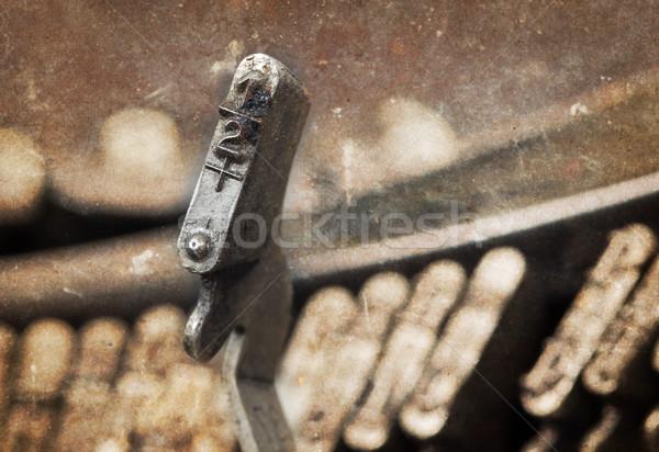 12 martillo edad manual máquina de escribir caliente Foto stock © michaklootwijk
