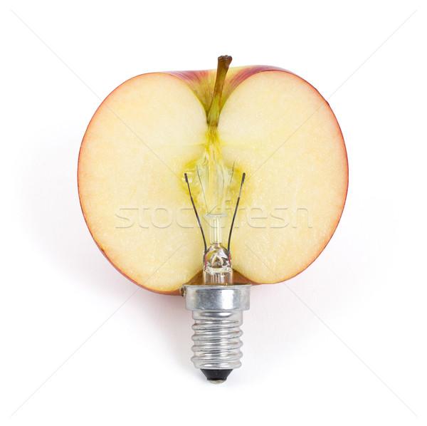 Apple lightbulb, concept of green energy Stock photo © michaklootwijk