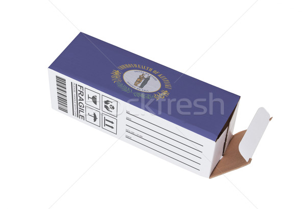 Exportar producto Kentucky papel cuadro Foto stock © michaklootwijk