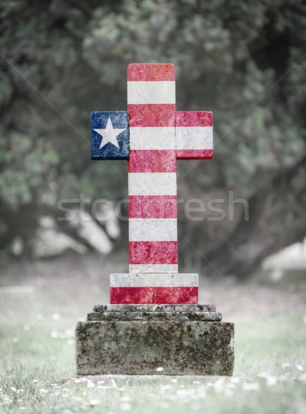 Stock photo: Gravestone in the cemetery - Liberia