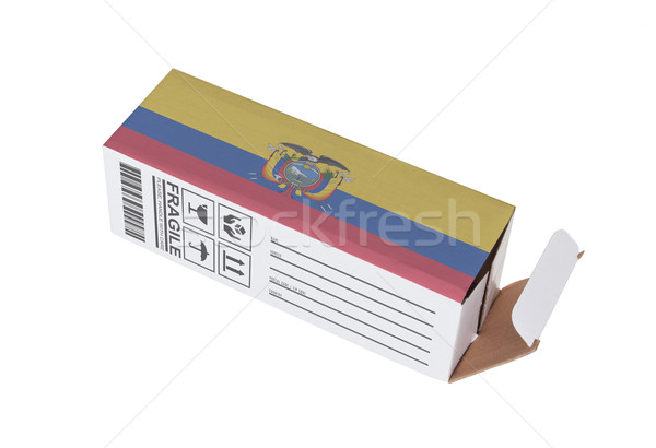 エクスポート 製品 エクアドル 紙 ボックス ストックフォト © michaklootwijk