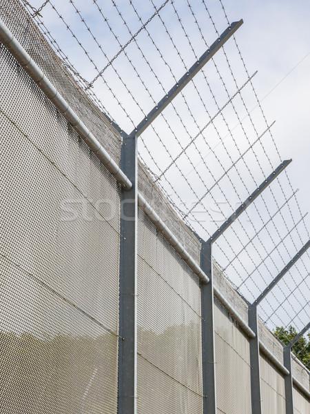 забор вокруг ограниченный старые тюрьму Нидерланды Сток-фото © michaklootwijk