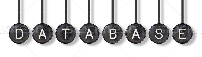 Stok fotoğraf: Daktilo · düğmeler · yalıtılmış · veritabanı · beyaz · ofis