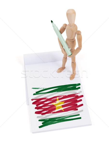 манекен рисунок Суринам флаг бумаги Сток-фото © michaklootwijk