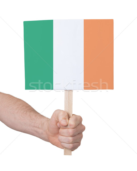 Hand holding small card - Flag of Ireland Stock photo © michaklootwijk