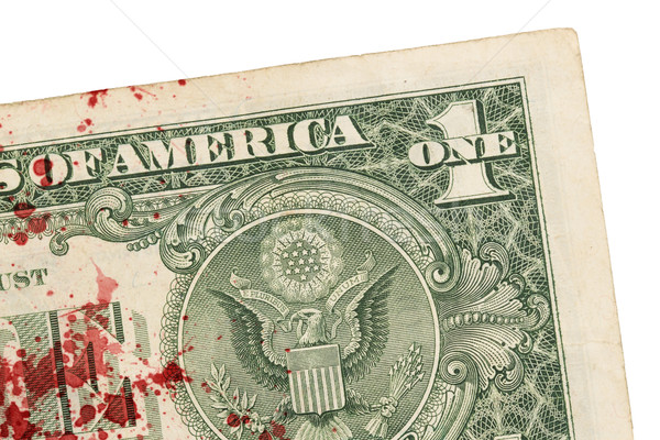 US one Dollar bill, close up, blood Stock photo © michaklootwijk