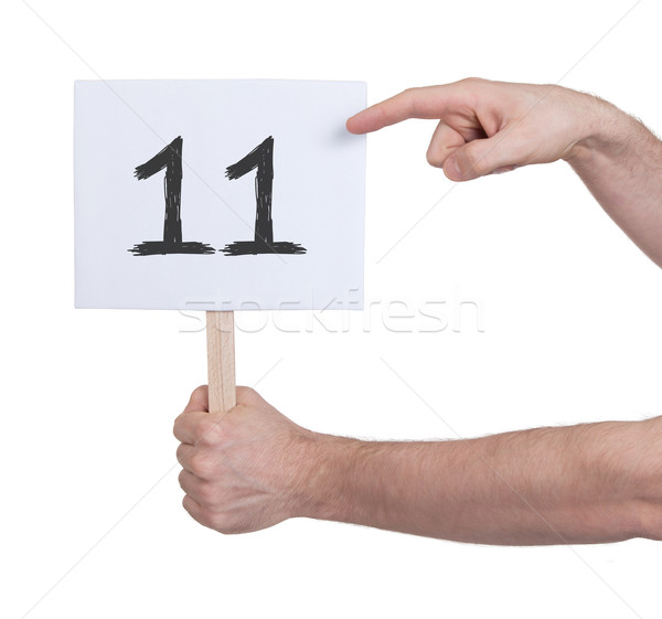 Sign with a number, 11 Stock photo © michaklootwijk