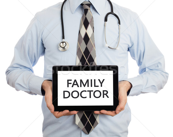 Doctor holding tablet - Family doctor Stock photo © michaklootwijk