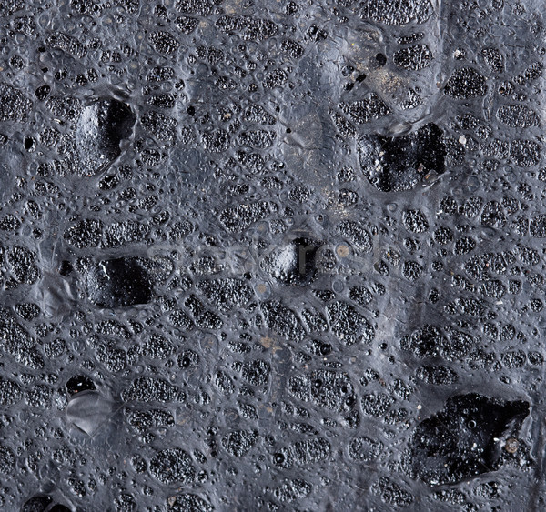 Extreme close-up of black rubber mat Stock photo © michaklootwijk