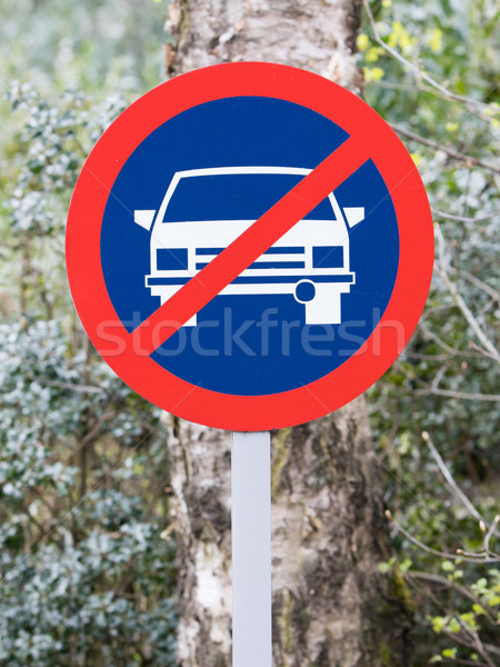 No parking road sign old Stock photo © michaklootwijk