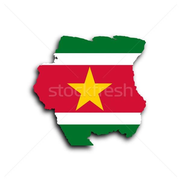 Kraju banderą Surinam tekstury projektu Zdjęcia stock © michaklootwijk
