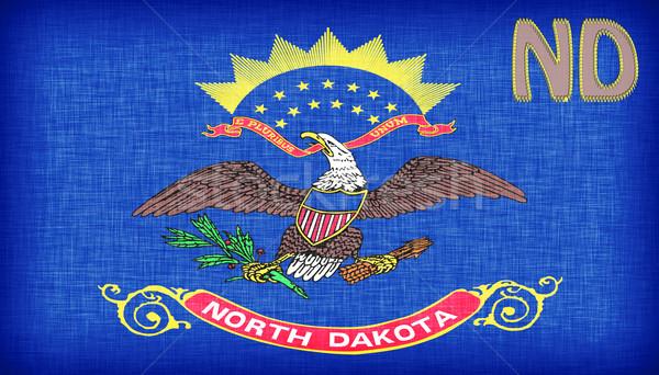 Stok fotoğraf: Bayrak · Kuzey · Dakota · kısaltma · kumaş · ülke