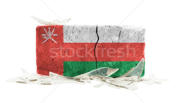 Brick with broken glass, violence concept Stock photo © michaklootwijk