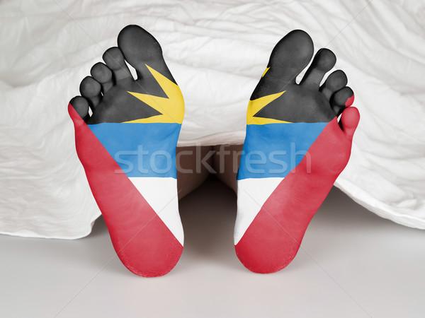 Voeten vlag slapen dood vrouw huid Stockfoto © michaklootwijk