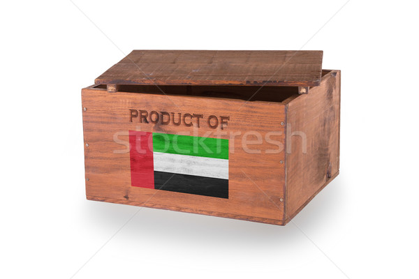 Stockfoto: Houten · geïsoleerd · witte · product · Verenigde · Arabische · Emiraten