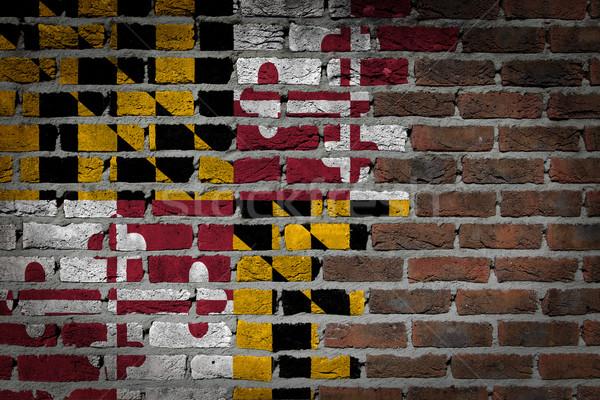 Dark brick wall - Maryland Stock photo © michaklootwijk