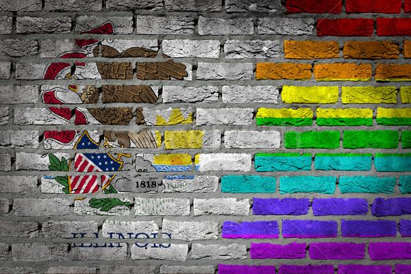 Dark brick wall - LGBT rights - Illinois Stock photo © michaklootwijk