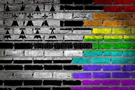 Donkere muur rechten Oklahoma textuur vlag Stockfoto © michaklootwijk