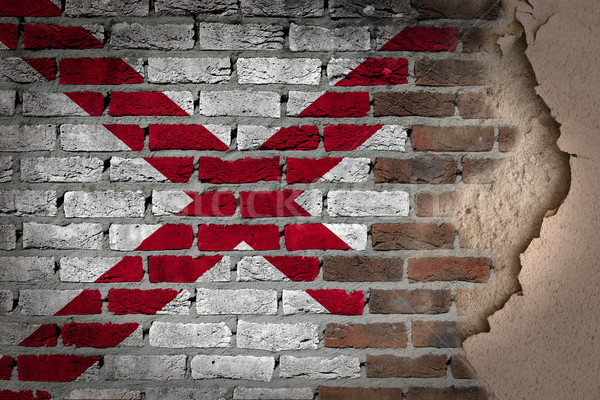 темно кирпичная стена штукатурка Алабама текстуры флаг Сток-фото © michaklootwijk