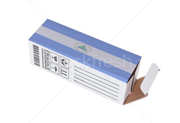 Exportar produto Nicarágua papel caixa Foto stock © michaklootwijk