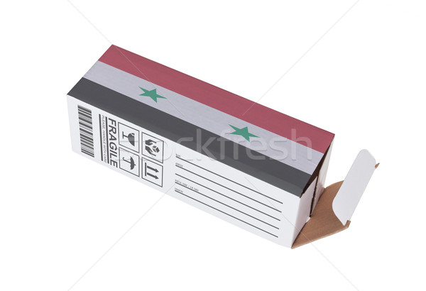 Exportar produto Síria papel caixa Foto stock © michaklootwijk
