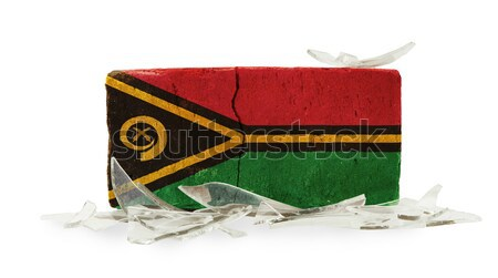 Bandeira ardente Vanuatu guerra crise fogo Foto stock © michaklootwijk