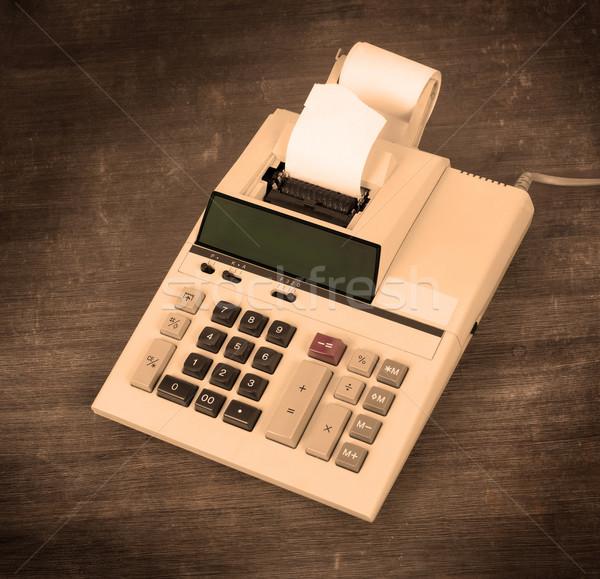 Starych brudne Kalkulator biurko ciepły Zdjęcia stock © michaklootwijk