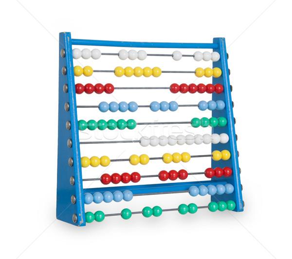 Oude abacus witte geïsoleerd business kleur Stockfoto © michaklootwijk