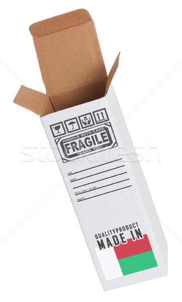Exportar produto Madagáscar papel caixa Foto stock © michaklootwijk