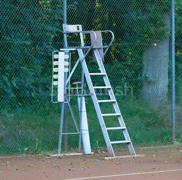 Old tennis umpire chair Stock photo © michaklootwijk
