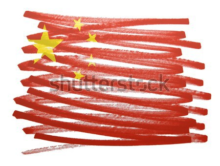 Vlag illustratie Bhutan pen business verf Stockfoto © michaklootwijk