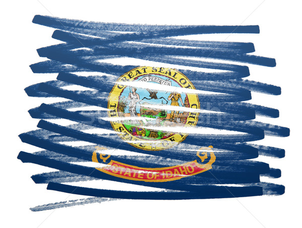 флаг иллюстрация Айдахо пер бизнеса краской Сток-фото © michaklootwijk