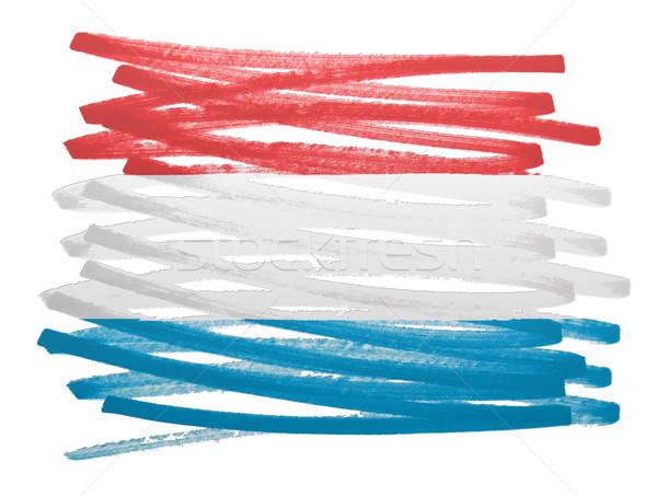 Flag illustration - Luxembourg Stock photo © michaklootwijk