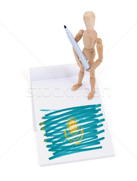 манекен рисунок Казахстан флаг бумаги Сток-фото © michaklootwijk