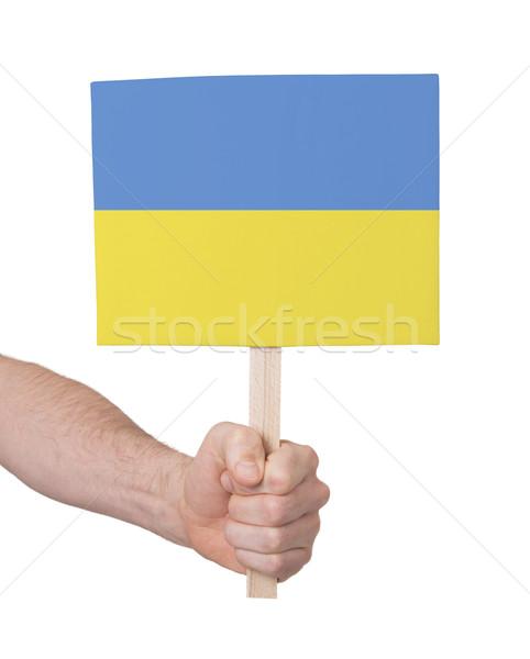 手 小 カード フラグ ウクライナ ストックフォト © michaklootwijk